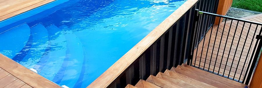 Le prix d'une piscine container augmente rapidement avec les options