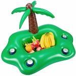 bouée apéro en forme de palmier
