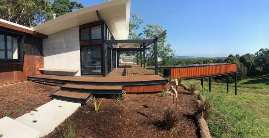Villa australienne avec piscine container par Gibson Building