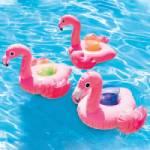 bar flottant pour piscine en forme de flamant rose